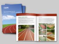 Брошюра по спортивным покрытиям CRUMB для Whitemark