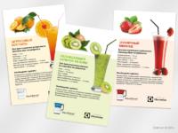 Карточки с рецептами коктейлей для Electrolux