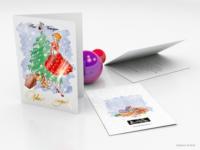 """Новогодняя открытка 2016 для """"Пан Чемодан"""""""