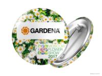 Gardena. Moscow Flower Show 2017. Значок.
