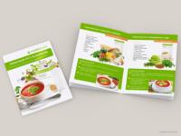 Брошюра рецептов томатного супа Herbalife.