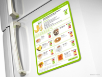 Herbalife. Магнит-памятка на холодильник.